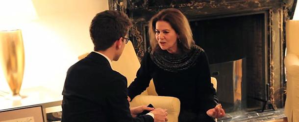 Filmfestival in San Francisco mit Hannelore Elsner | Hannelore Elsner im Interview mit Aron Malatinszky auf dem Berlin & Beyond Festival in San Francisco 2015 © Sebastian Ortiz